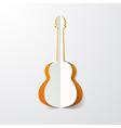 guitar cut in paper vector image
