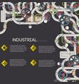 industrial pipeline background vector image