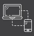 responsive web design line icon seo development vector image