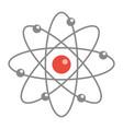 atom molecule icon flat cartoon style isolated vector image