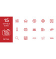 15 detail icons vector image vector image