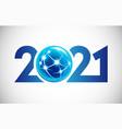 2021 global year vector image
