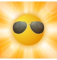 Abstract sun with sunglasses vector image