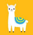 alpaca llama animal cute cartoon funny kawaii vector image
