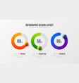 amazing business infographic presentation 3d vector image