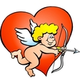 an Angel boy with a bow and arrow vector image