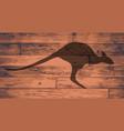 australian kangaroo brand vector image vector image
