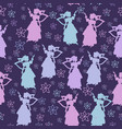 background with fairy dancing vector image