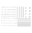 Big Set of geometric hipster shapes vector image vector image