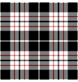 black and red tartan plaid seamless pattern vector image vector image
