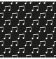 Black music seamless pattern vector image