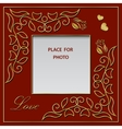 Blank photo frame postcard or greetings card vector image