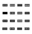bricks icons set vector image