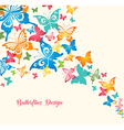 Butterflies Isolated on White Background vector image vector image