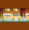 cafe mall food court interior cartoon vector image
