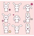 Cartoon Cute Rabbit Character vector image vector image