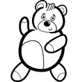 Cartoon Teddy Bear for Coloring vector image vector image