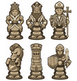 chess pieces set white vector image vector image