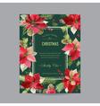 Christmas Invitation Poinsettia Greeting Card vector image