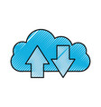 cloud computing upload and download information vector image