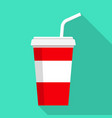 cola icon flat style vector image vector image