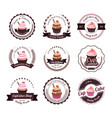 collection of cupcake labels vector image