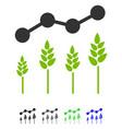crop analytics flat icon vector image