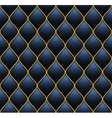 Dark Deep Blue with Gold Quilted Leather Seamless vector image vector image