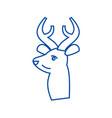 deer line icon concept deer vector image vector image