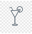 drink concept linear icon isolated on transparent vector image
