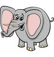 elephant animal character cartoon vector image vector image