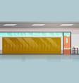 empty school corridor interior with row lockers vector image vector image
