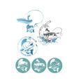 fishing logo vector image vector image