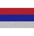 Flags Republika Srpska on denim texture vector image vector image