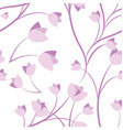 floral and tulips seamless texture vector image vector image