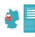 frankfurt map infographic vector image vector image