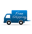 free shipping truck delivery icon vector image vector image
