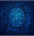 futuristic brain vector image vector image