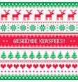 geseende kersfees - merry christmas in afrikaans vector image vector image