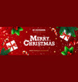 happy new year banner xmas st with gifts box vector image vector image