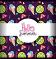 hello summer background vector image vector image