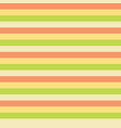 horizontal stripes yellow green peach tile vector image