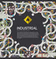 industrial mechanical template vector image