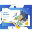 internet online earnings isometric concept vector image vector image