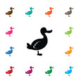 isolated duck icon canard element can be vector image vector image
