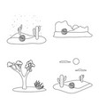 isolated object wilderness and texas icon set vector image vector image