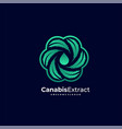 logo cannabis extract color gradient style vector image