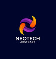 logo neotech gradient colorful style vector image