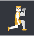 male biceps workout vector image