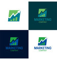 marketing company vector image